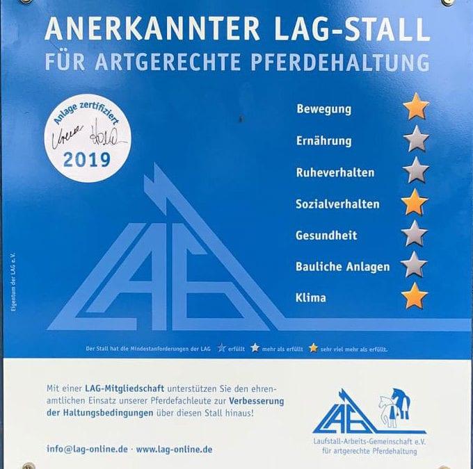 LAG Zertifizierung 2019