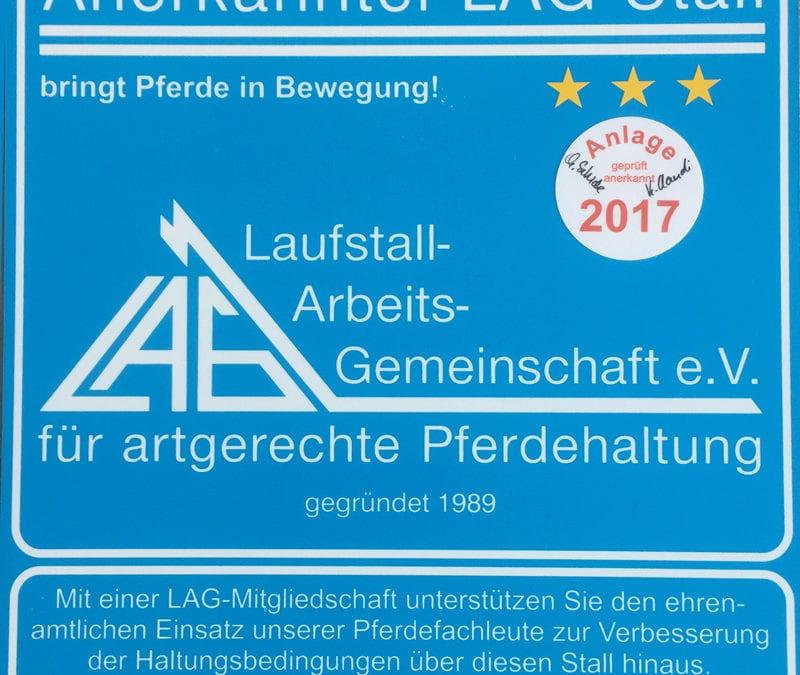 LAG Zertifizierung 2015